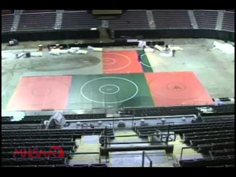 MHSAA Individual Wrestling: Palace of Auburn Hills Conversion Time-Lapse