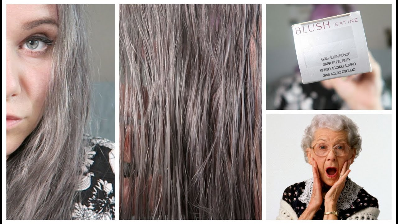 les cheveux gris de ta mamie question colo - Shampoing Colorant Gris