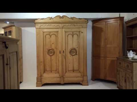Beautifully Grand 19th Century Anqtiue Wardrobe - Pinefinders Old Pine Furniture Warehouse