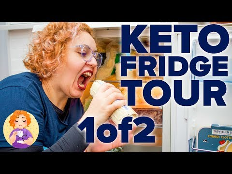 Keto Grocery Food Haul Shopping List UK for beginners - Low Carb Foods Fridge Tour Pt 1
