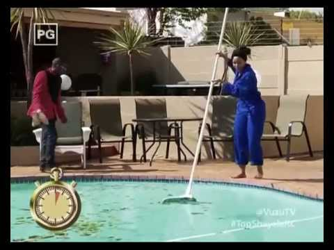 VUZU.TV: Top Shayela - Minnie cleans up the Pool