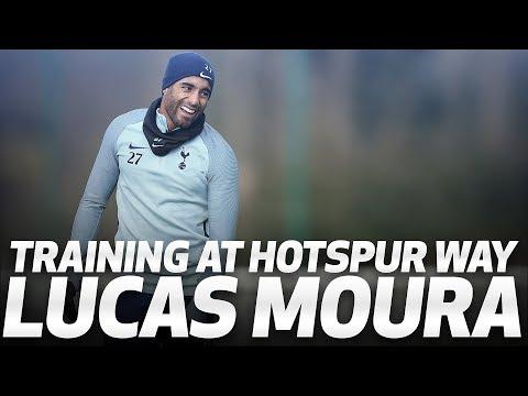 LUCAS MOURA TRAINS AT HOTSPUR WAY