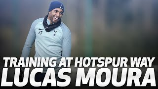 LUCAS MOURA TRAINS AT HOTSPUR WAY