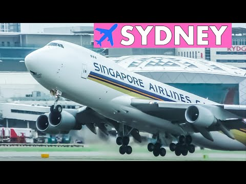 BIG JETS Runway Action At SYDNEY Airport