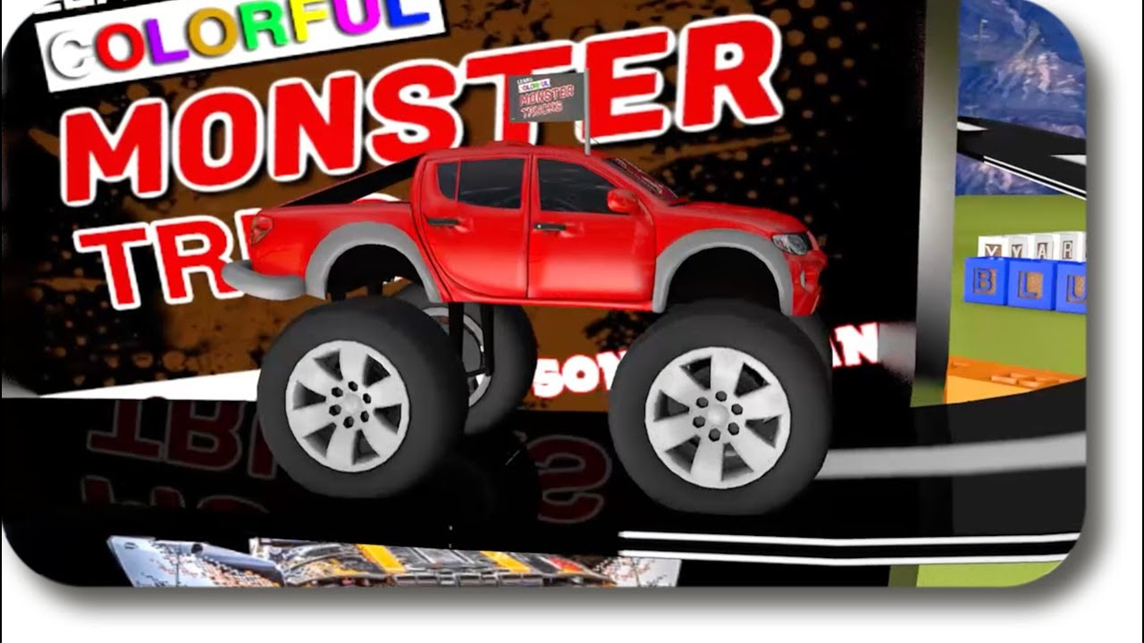 Road Rangers and Haunted Colored Monster Truck Jam
