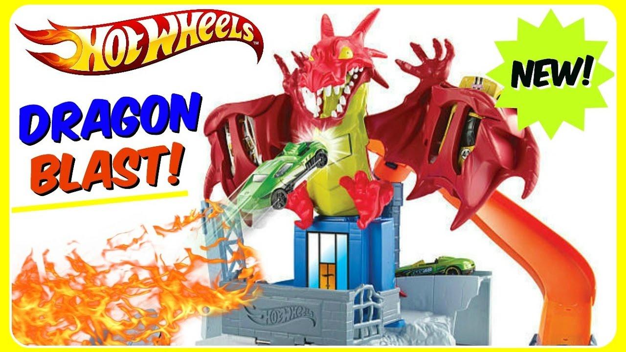 Hot Wheels Dragon Blast! NEW 2017 Hot Wheels Toys! Defeat The Dragon! Fun  Kids YouTube Video