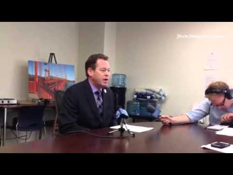 Denis Mulligan discusses suicide barrier plan.