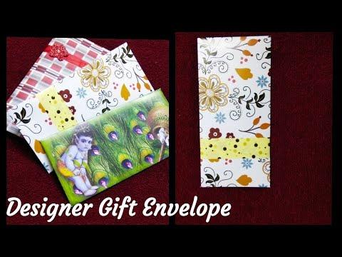Envelope Making | How to make paper cash envelopes | DIY Designer Gift Envelope