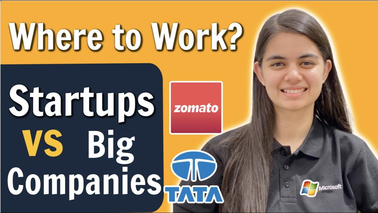 Big Companies vs Startups | Which one should you select?