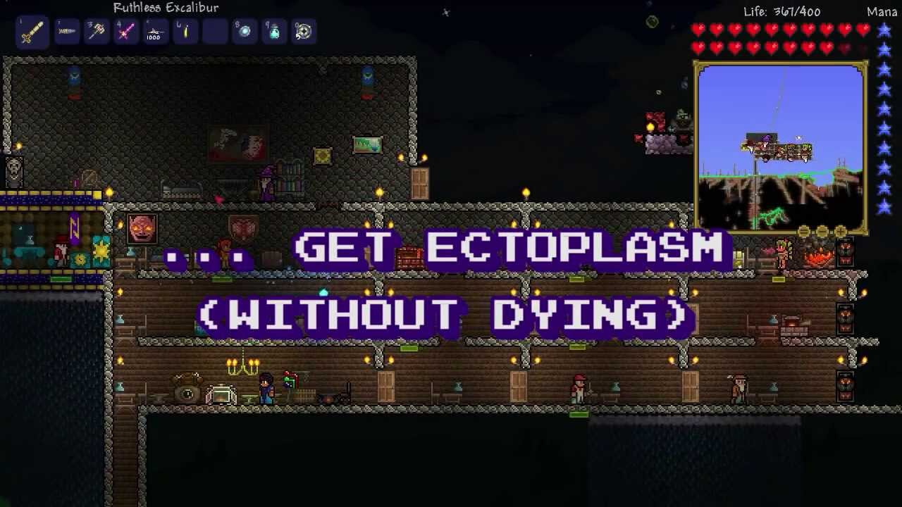Ectoplasm Terraria Wiring Heart Statues 12 How To Get Without Dying Youtube
