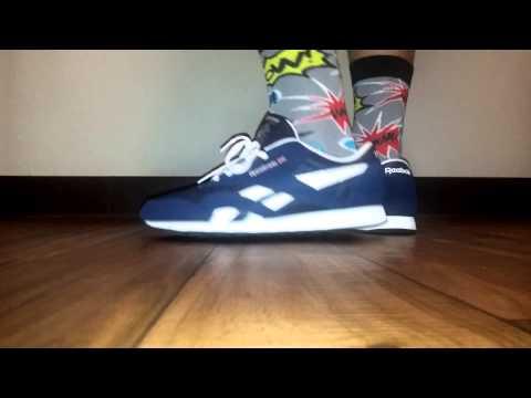 reebok classic nylon on feet
