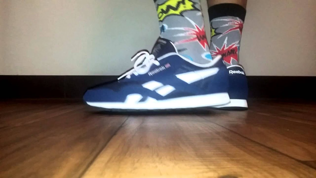 eb4cbfb6b0276 Reebok Classic Nylon On Feet. - YouTube