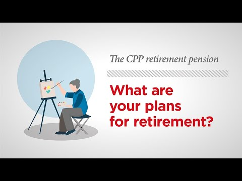 The CPP retirement pension — How it works