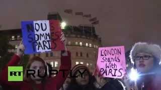 UK: Victims of Paris attacks honoured at Trafalgar Square vigil