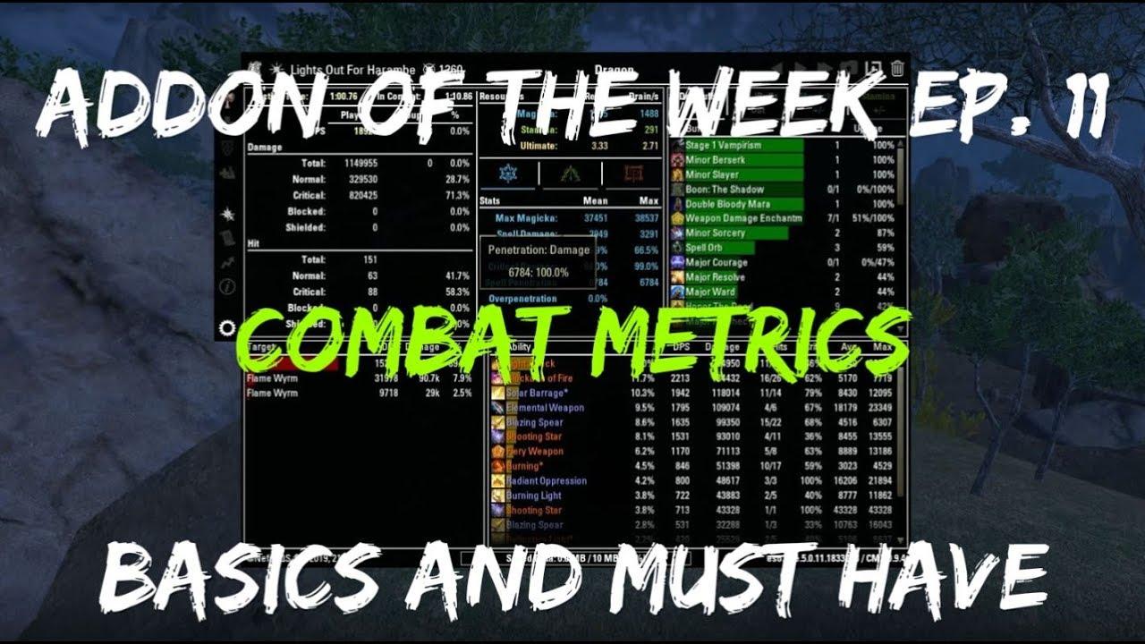 Addon Of The Week #11: Combat Metrics (Must Have For PvE) | The Elder  Scrolls Online