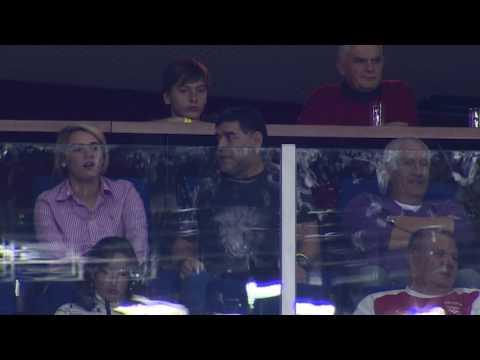 Diego Maradona is feeling the emotion of Davis Cup