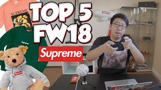 TOP 5 ITEMS OF THE SUPREME FW18 LOOKBOOK PREVIEW (BOX LOGO CREWNECK, TEDDY BEAR, and MORE)