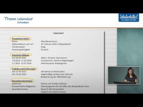 Bewerbungsschreiben& Lebenslauf // Schreiben // Deutsch // Schülerhilfe Lernvideo