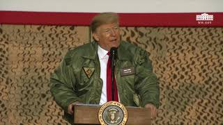 From youtube.com: President Trump Delivers Remarks To Troops Al Asad Air Base, Iraq., From Images