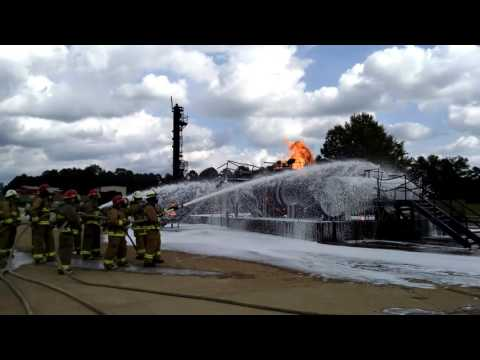 Fire training at South Carolina Fire Academy