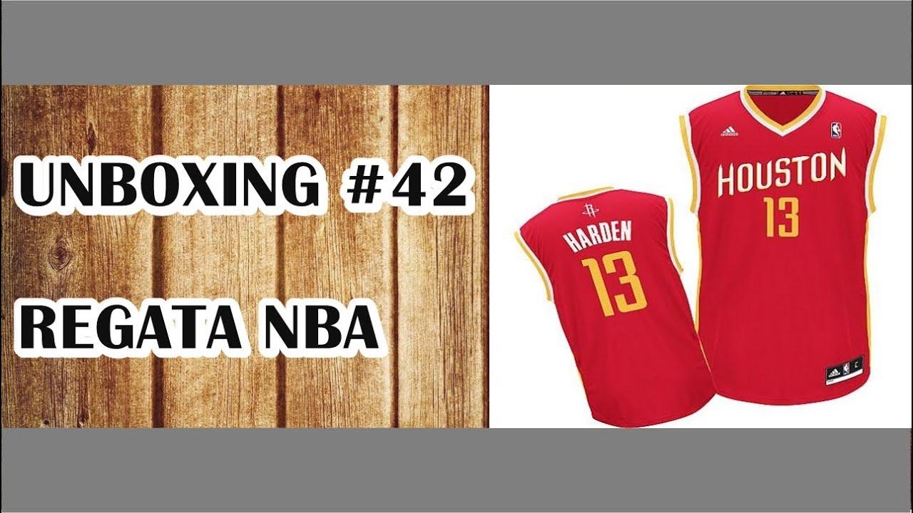 new style 234e2 83a65 UNBOXING #42 - Aliexpress: Regata NBA Houston Rockets (James Harden 13)