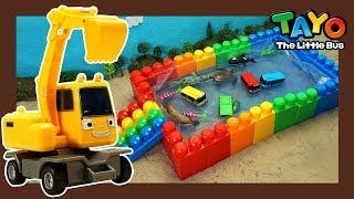 Мощные большегрузные автомобили l Цветной бассейн и детская акула l Приключения Тайо