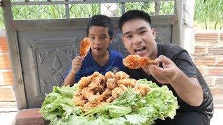Lần Đầu Làm Mâm Đùi Gà KFC Khổng Lồ Ăn Cực Đã   TQ97