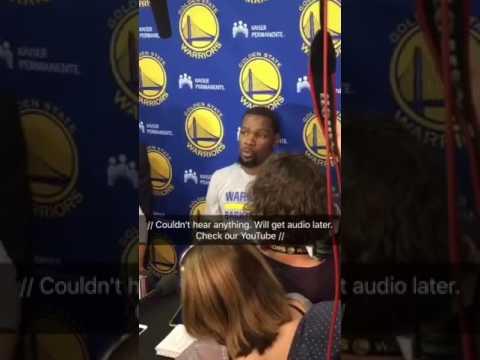 "Durant: ""Shut up, Mike"", Brown, Kerr - Views f/ Warriors (0-0) practice, 7 days b4 2017 NBA Finals"