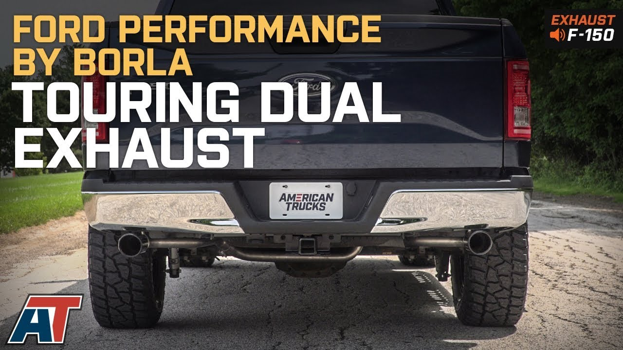 2015 2018 f150 ford performance by borla touring dual exhaust rear 5 0l sound clip install