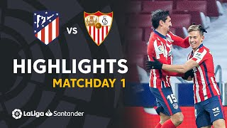 Highlights Atlético de Madrid vs Sevilla FC (2-0)