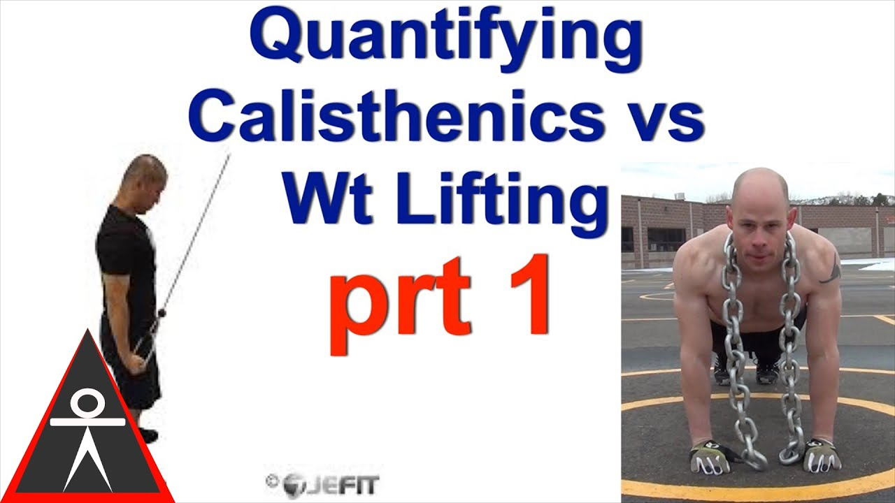 calisthenics vs weight training Calisthenics and weightlifting are both forms of strength training, useful for developing stronger muscles, healthier bones and better stamina.