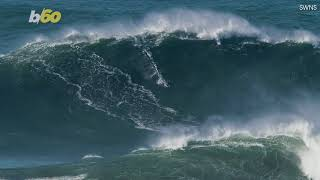 Watch As British Pro Surfer Rides the Biggest Wave Ever Surfed