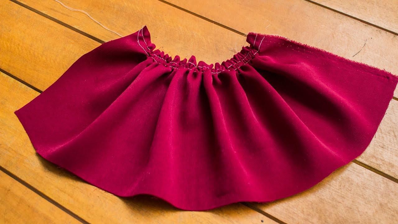 Como fruncir tela fácilmente paso a paso/Costura fácil con Luzkita