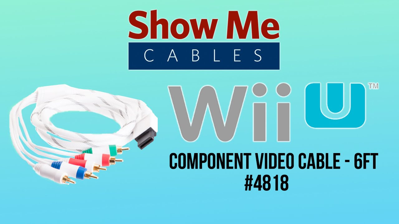 Nintendo Wii and Wii U Component Video Cable - 6 FT #4818 - YouTube