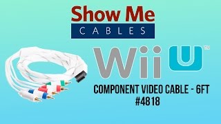 Nintendo Wii and Wii U Component Video Cable - 6 FT #4818