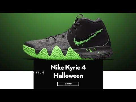 competitive price 724e8 3b7db Nike KYRIE 4 Halloween BLACK/RAGE GREEN