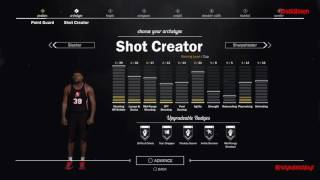 nba 2k17 point guard complete build and attributes upgrades