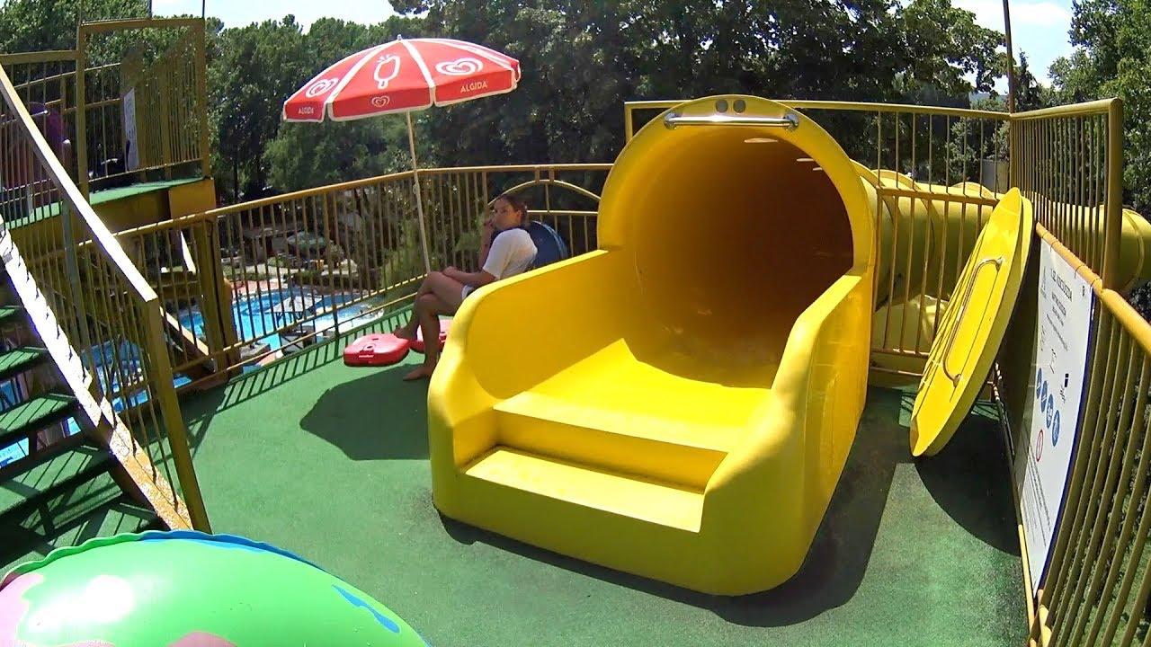 yellow tube water slide at r u00f3mai strand
