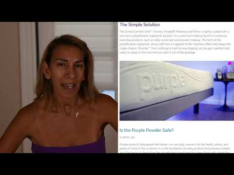 Purple Mattress Powder What S The Deal Youtube