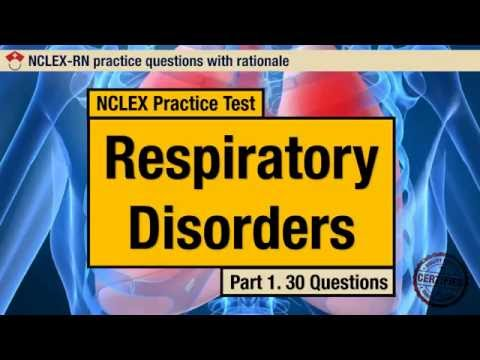 NCLEX Practice Test Respiratory Disorders Part 1 YouTube
