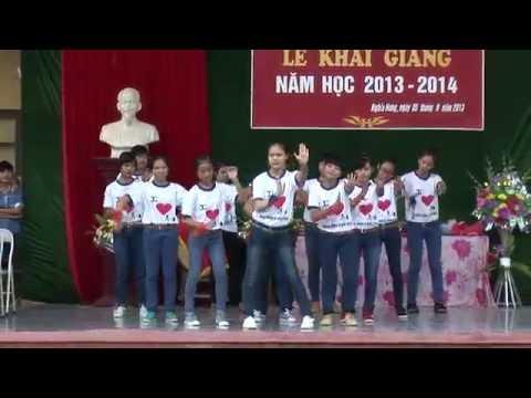 Múa dân vũ té nước thái lan   Trường THPTB Nghĩa Hưng Nam Định