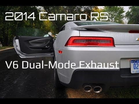 2014 chevy camaro rs dual mode exhaust rainy first drive 2