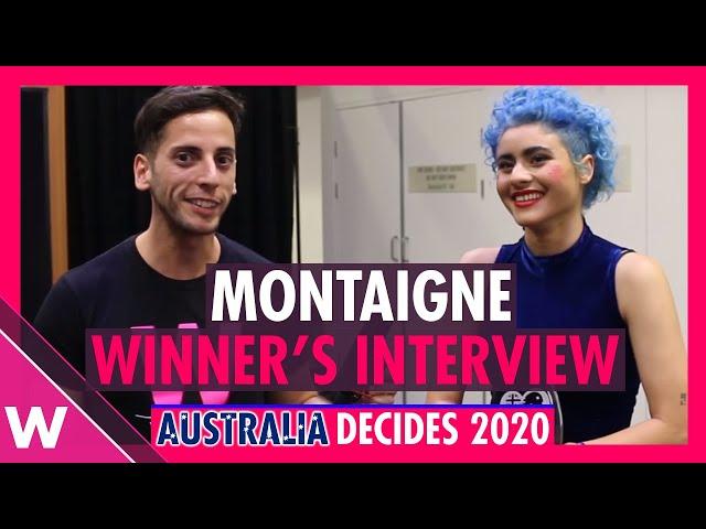 Montaigne Winner's Interview @ Eurovision Australia Decides 2020