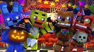 Minecraft FNAF KIDS - HAPPY HALLOWEEN! (Minecraft Roleplay)