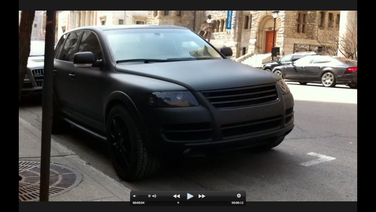 Matte Black Volkswagen Touareg V10 In Montreal Youtube