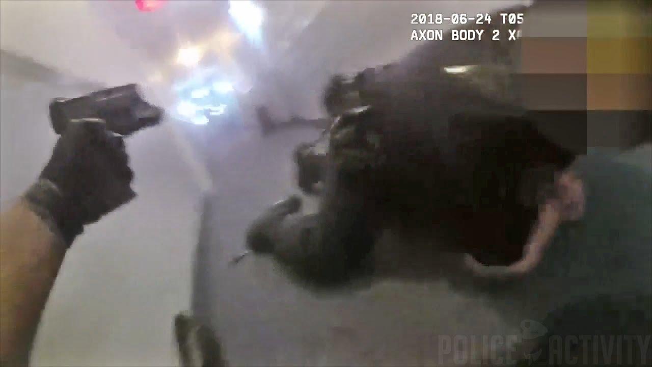 Üble Schießerei aufgenommen mit Body Cam der Polizei