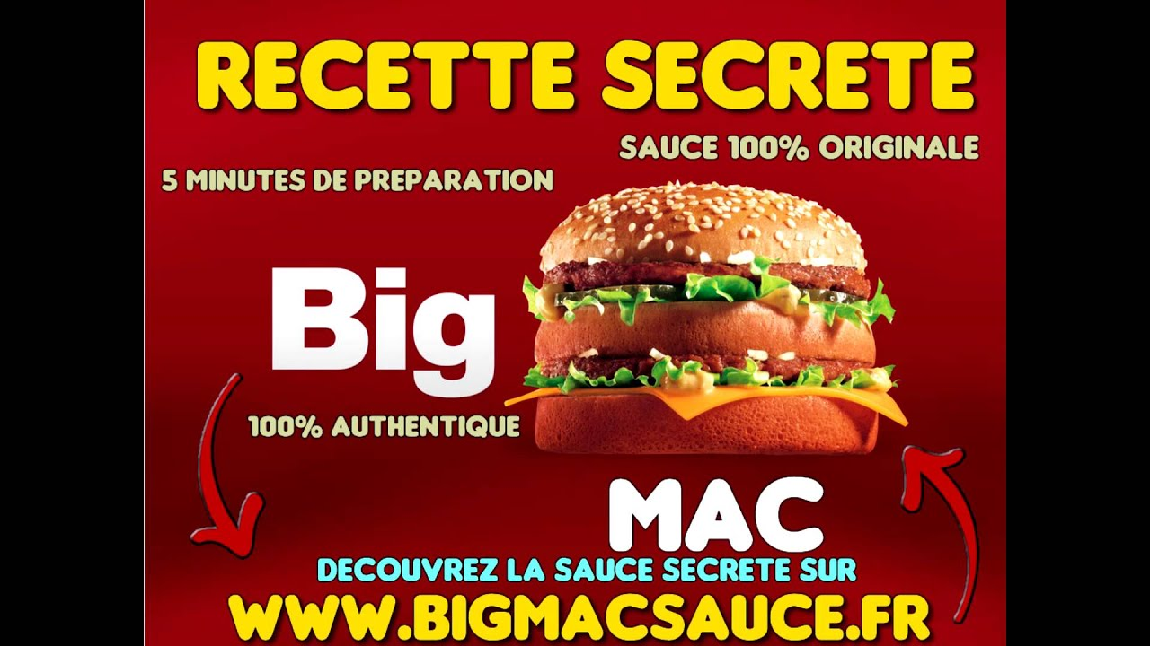 Super Big Mac Sauce - Recette Secrète de la Sauce Big Mac! - YouTube GX61