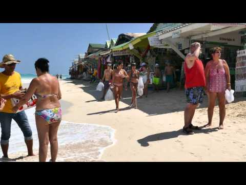Dominican republic - Bavaro beach shops 4K HD