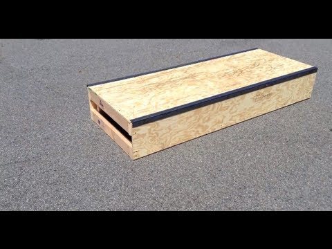 How To Build A Diy Skateboarding Box Youtube