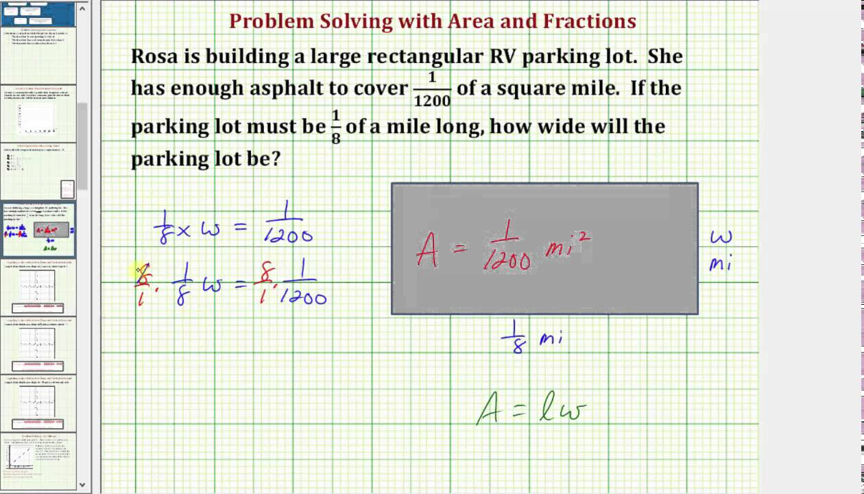 Find a width of a rectangle with fractions given an area common find a width of a rectangle with fractions given an area common core math 78 ex 8 ccuart Gallery